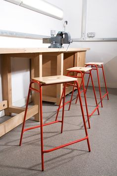Industrial Bar Stools, Industrial Cafe, Northumbria University, Iron Furniture, Stool Chair, Milan Design, 2020 Design, Table And Chairs, Working Girls