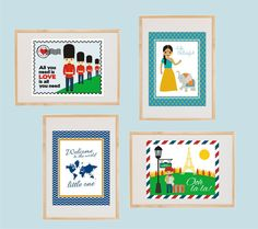 World travel nursery wall art Instant by kutzypartyboutique