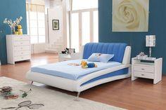 diseño para cuarto infantil azul y blanco