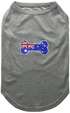 Mirage Pet Products Bone Shaped Australian Flag Screen Print Shirt * You can get more details here : Dog Apparel and Accessories