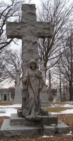 Located at Calvary Cemetery in St. Louis, MO.   Robert Forsyth  1808 - 1873  Ann Culver Forsyth  1801 - 1868