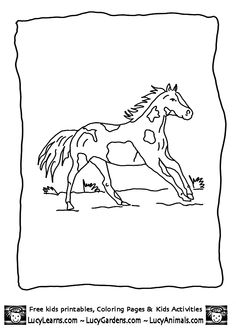 Free Horse Coloring Sheets By Lucy Learns Pictures