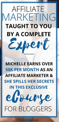 I learned everything I know about affiliate marketing from Michelle. Her course taught me the ins and outs of making money from your blog and blog monetization strategies. The ecourse broke everything down into simple to understand steps. After finishing the course, I walked away with a real understanding of strategies that would enable me to be successful and turn a profit online. I'm a huge advocate for her course and would highly recommend it to anyone. #afflink