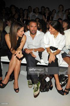 Deborah Needleman, Carlos Mota and Ann Caruso attend CALVIN KLEIN COLLECTION Spring 2008 Fashion Show at Calvin Klein Inc. on September 11, 2007 in New York City.