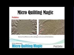 Handi Quilter March Webinar: Micro Quilting Magic - YouTube