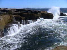 Schoodic Point Maine Acadia National Park, National Parks, Travel Maine, Places To Travel, Places To Visit, Desert Island, Ocean Beach, Vacation Destinations, Road Trips