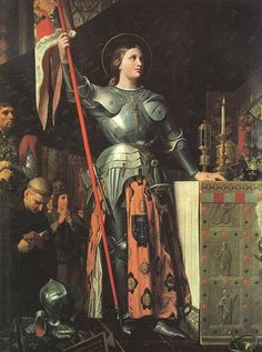 Joan of Arc at Coronation of Charles VII- Jean Auguste Dominique Ingres