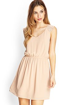 This is perfect for your bridesmaid dress - and it's only $22 !!!    Embroidered Fit  Flare Dress | FOREVER21 - 2000087159