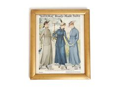 1916 Framed Fashion Plate by LeNouveauSalon on Etsy