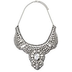 Forever 21 Beaded Statement Bib Necklace ($13) ❤ liked on Polyvore featuring jewelry, necklaces, acessorios, bib statement necklace, bead necklace, chain statement necklace, forever 21 and boho chic jewelry