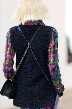 Two bags worn together - Chanel Spring 2014 Ready-to-Wear Collection Slideshow on Style.com