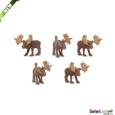 Mini Moose (1 Moose) at theBIGzoo.com. Perfect for cupcake toppers, DIY crafts, cake decorations, table confetti, party favors, etc.