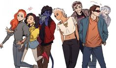 X-Teens (Jean Grey, Jubilee, Nightcrawler, Storm, Quicksilver & Cyclops) by ghdrhk3