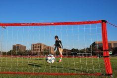 TM Soccer Rebounder Slingshot, Rebounding, No Equipment Workout, Innovation, Shots, Red, Training, Image