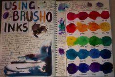 'Brusho' ink experiments Brusho, A Level Art, Arts Ed, Gcse Art, Process Art, Art Studios, Art Lessons, Art Sketches, Art Boards