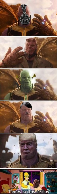 He's gonna make us suffer a lot so we might as well laugh at him while we still can Marvel Funny, Marvel Memes, Marvel Dc Comics, Funny Comics, Marvel Art, Dankest Memes, Funny Memes, Shrek Memes, Funny Shit