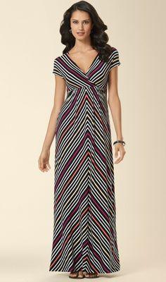 Soma Cap Sleeve Maxi Dress in Chevron Stripe Print - #Soma Sweepstakes