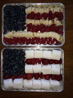 Fruit and Marshmallow Flag