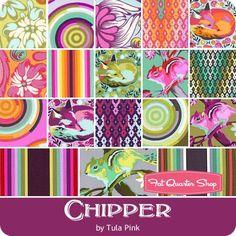 Chipper Fat Quarter Bundle <br/>Tula Pink for Free Spirit Fabrics