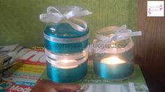 świeczniki DIY, słoiki, świeczniki zrób to sam, z tasiemek