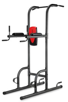Weider Power Tower Pull Station Gym Exercise Dip Chin Bar Stand Workout Home Gym #Weider