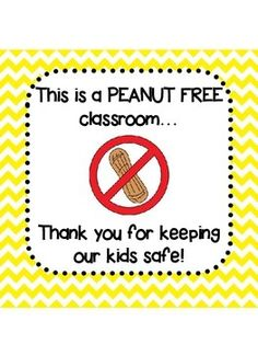 Here's a simple sign to hang on your door or outside of your classroom in case…