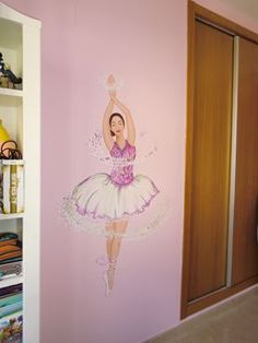 Mural infantil bailarina de ballet.