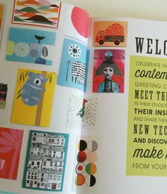Very nice to have two of my cards on the welcome spread of this new book by Sarah Hamilton called 'House of Cards'.  For me, designing cards meant my first wholesale sale was to the Tate Modern! Since then, I sell to some lovely galleries and shops and have met some really nice people along this continuing journey.