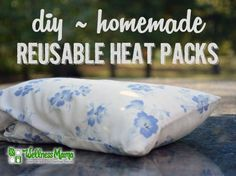 These simple-to-make reusable rice heat packs are made with rice and material and can be easily heated in the microwave for use again and again.
