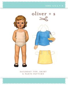 Oliver + S - sailboat top, skirt + pants pattern