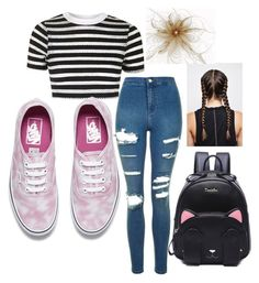 """""""Untitled #542"""" by aminamuratovic3 ❤ liked on Polyvore featuring Topshop and Vans"""