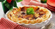 Västerbottenspaj med smördeg och korv recept