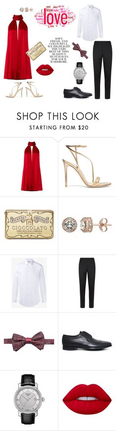 """""""Party couple outfits"""" by roxx1993 on Polyvore featuring Galvan, Gianvito Rossi, Dolce&Gabbana, Gucci, Tom Ford, Ryan Seacrest Distinction, Paul Smith, Tissot, Lime Crime and Folio"""