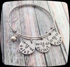 Mother's Day Gift, Grandma Jewelry, Nana Bracelet, Gift for Mom, Custom Name, Mommy Jewelry - Grandmother gift by ThatKindaGirl on Etsy