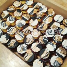 1920's Great Gatsby cupcakes