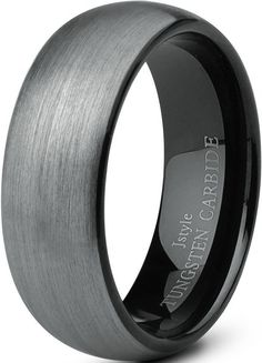 Jstyle Jewelry Tungsten Rings for Men Wedding Band Black Ring 8mm ... (8)