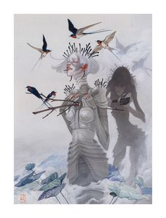 """JAW Cooper Paints Exotic New Worlds in Her Mixed Media Series """"Viscera"""" 
