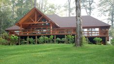 ggaleria02 (21) Log Cabin Homes, Log Cabins, Ideas Para, Sweet Home, Exterior, House Styles, Houses, House Ideas, Victoria