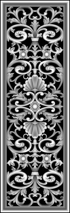 浮雕灰度图大洋花模板下载_我图网