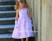 pink damask dress