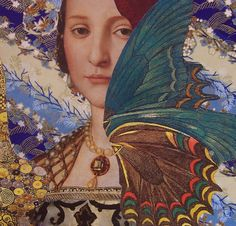 Kanchan Mahon is a self taught artist in the medium of handcut paper collage. Her art is quixotic, vibrant romantic and otherworldly. The pieces display etherea Collages, Collage Artists, Image Collage, Mixed Media Collage, Soul Collage, Art Nouveau, Art Deco, Dream Images, Woman Painting
