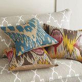 Marrakesh Silk Pillow - Multi Color Ikat - Ballard... | PCWorld