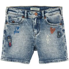 Scotch & Soda Stretch denim shorts - Stone-washed blue - 101917