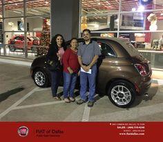 https://flic.kr/p/BaG2vz | Congratulations Manuel on your #FIAT #500 from Donald Walker at Fiat of Dallas! | deliverymaxx.com/DealerReviews.aspx?DealerCode=F741