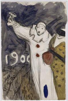 Projet pour une affiche de carnaval Picasso Pablo (dit), Ruiz Picasso Pablo (1881-1973) Paris, musée Picasso