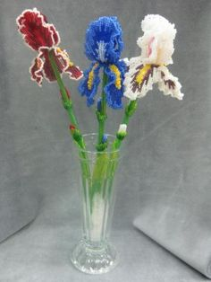 Beaded art flowers iris