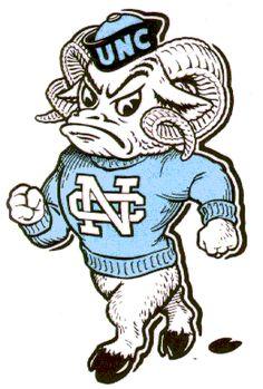 UNC mascot Rameses - vintage logo