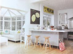 L shaped kitchen diner incorporating conservatory