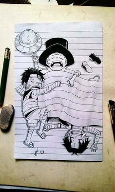 one piece -I love that Luffy's bandages are over his shirt