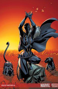 Drawing Marvel Comics Art Print: Black Panther Cover: Black Panther by J. Shuri Black Panther, Black Panther Storm, Black Panther Art, Black Panther Marvel, Black Art, Female Black Panther, Comic Book Heroes, Comic Book Characters, Marvel Characters